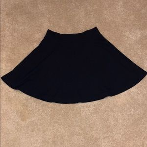 Plain black skater skirt